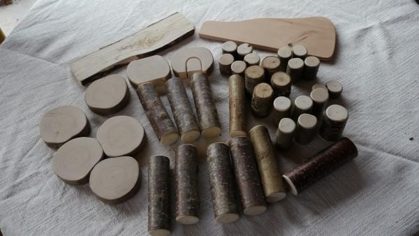 Naturholz-Bausteine