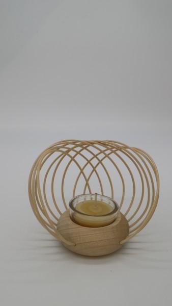 Teelicht mit Körbchen