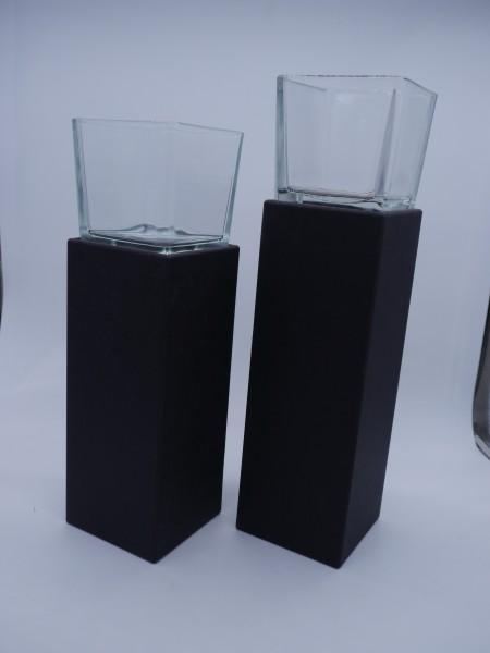 Lichtsäulen Duo schwarz