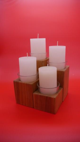 Kerzenhalter 4er Set in Kirsch